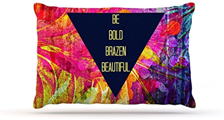 Kess InHouse Ebi Emporium Be Bold Brazen Beautiful  Pink Rainbow Dog Bed, 30 by 40Inch