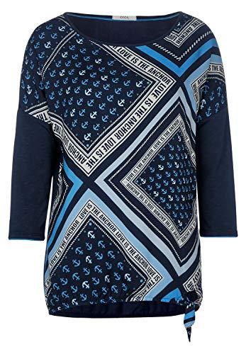 CECIL Damen 314602 T-Shirt, Blau (Deep Blue), XX-Large