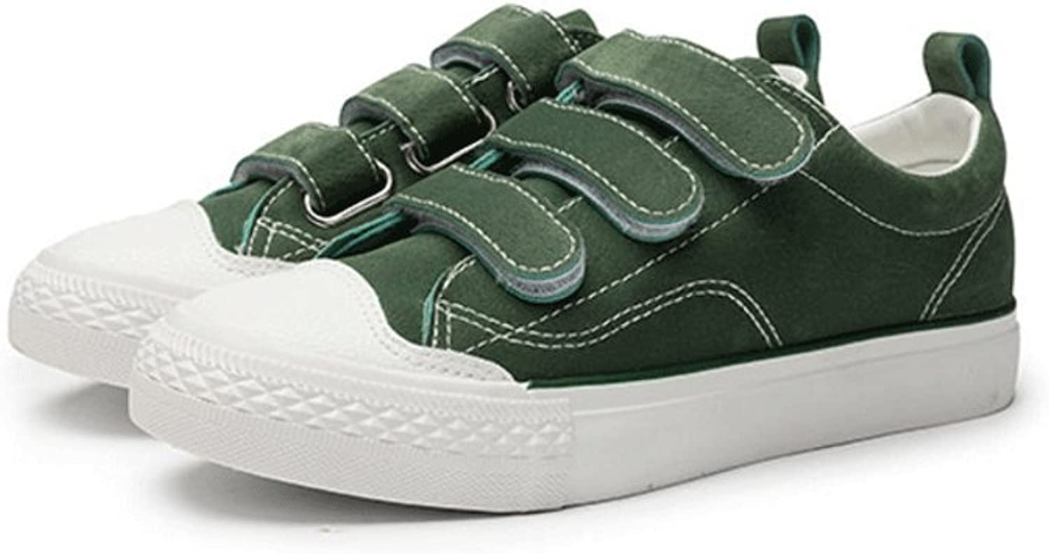 Fashion Velcro Flat shoes Student Casual Board shoes Breathable Sports shoes Outdoor Running shoes ( color   Green , Size   39 )