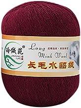 50g Winter Long Plush Mink Yarn Soft Hand Knitting Thread for Sweater Scarf Warm Home Sewing Supply Yarn-NO.6