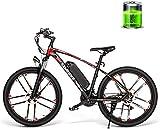 Bicicletas Eléctricas, Montaña bicicleta eléctrica de 26 bicicletas de montaña de viaje de alta velocidad bicicleta eléctrica de 48V 350W 8AH masculino y femenino adulto Off-Road pulgadas de 30 km / H
