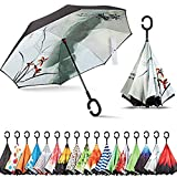 Original Deals Inverted Inside Out Umbrella | Double Layer Inverted UV Protection Unique Windproof...