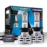 LED Ampoule H7 pour Voiture, NOVSIGHT 12V Lampe - Phare 60W(30W*2) 10000Lms(5000Lms*2), IP68 Etanche, 6500K Lumière Blanche, Garandie de 2 Ans, Lot de 2