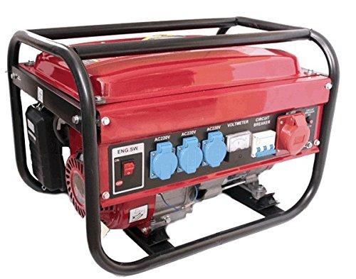 Generatore elettrico a benzina da 5500 W, trifasico e monofasico x 3 serbatoio da 15 l