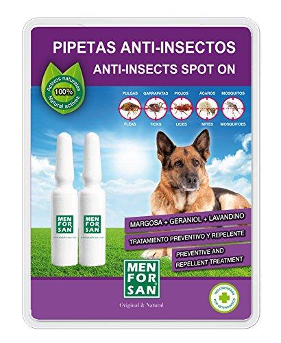 MENFORSAN Pipeta Anti-Insectos Para Perros Con Margosa , Geraniol Y Lavandino  - 200 gr