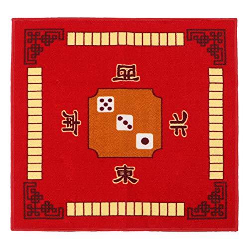 EXCEART Mahjong Tischabdeckung Tischmatte für Poker Kartenspiele Brettspiele Fliesenspiele Dominosteine und Mahjong (rot)