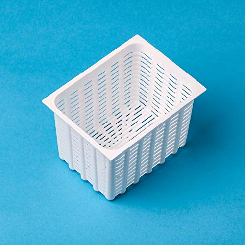 Cheese making cheese mold 0.4L/0.35kg/0.77lbs Rectangle Brick Original HOZPROM Cheese making mold Molde para queso Cheesemaking Rennet cheese Feta Cheese making molds Cheese making Cheese rennet