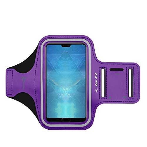J&D Kompatibel für Huawei P50 Pro/ P50/P40 Lite 5G/P30 Pro/20 Pro/20/20 Lite/P Smart 2021/P Smart Z Armband, Sportarmband für 2 Running Armband, Zusätzliche Tasche für Schlüssel