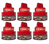Johnson Kiwi Pot, Crema Autobrillante de Alta Calidad para Calzado, Paquete de 6 x 50 ml (Total 300 ml)