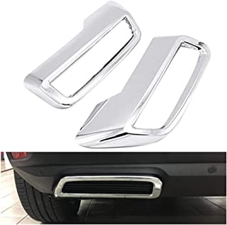 Jis Fit for Peugeot 3008 5008 Allure 2017-2019 Exhaust Pipe Tail Cover ABS Rear Exhaust Muffler End Pipe Cover Decoration ...