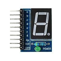HongJie Hou Arduino用1桁ブルガードアノード0.56インチデジタルディスプレイモジュール - ブルー