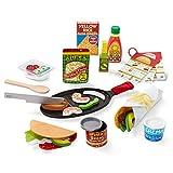 Melissa & Doug Fill & Fold Taco & Tortilla Set (Play Food, Sliceable Wooden Mexican Play Food,...