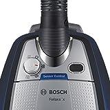 Bosch Relaxx'x ProSilence Plus Bodenstaubsauger ohne Beutel BGS5A300, besonders leise, geringer Stromverbrauch, 700 Watt, schwarz/silber
