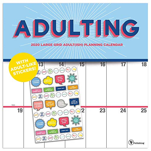 2020 Big Grid - Adulting Wall Calendar with Planning Stickers