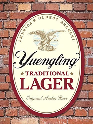 Yuengling Brewery Traditional Lager Metal Pub Sign Wall Home Bar Decor