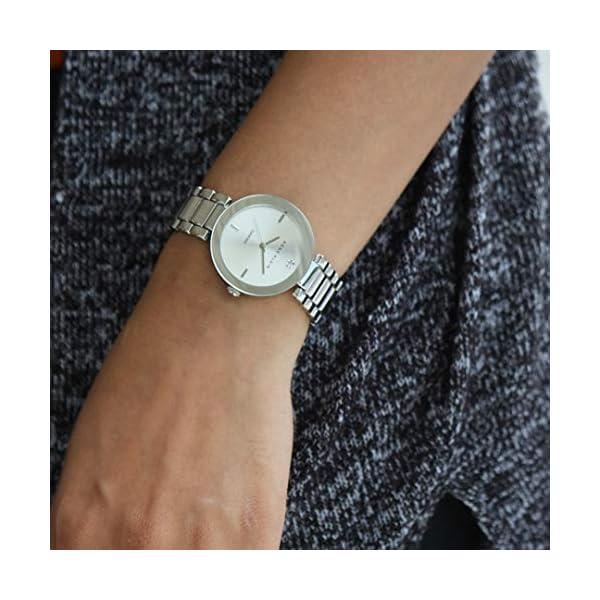 Anne Klein AK/1363SVSV – Reloj para Mujeres, Correa de Acero Inoxidable