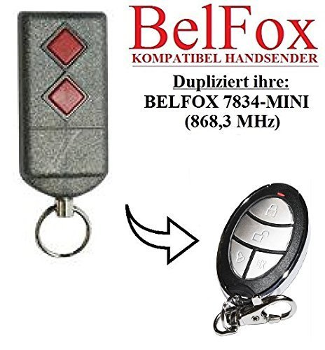 BELFOX 7834 - MINI Kompatibel Handsender, Ersatz sender, 868.3Mhz fixed code, Klone