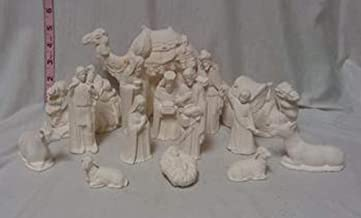 "Nativity 15 piece set 3"" to 7"" ready to paint ceramic bisque"