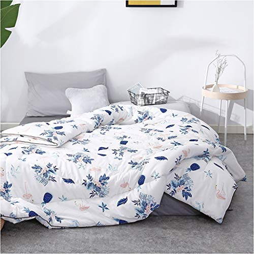 Style Bedroom Winter Quilt Household Keep Warm Thicken Individual Printing Bedding Student Dorm Room Cotton Double Core Multifunction (Color : D, Size : 150X200cm(2.5kg))