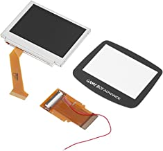 Zerone LCD Backlight Kit Backlit Screen Repair Kit for Game Boy Advance GBA SP Replacement