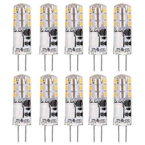 Blantye 10Pcs G4 Bombillas LED 24LED 1.2W Fuente de luz de Dos Clavijas para el hogar Lámpara de Pared de luz de Techo 12V