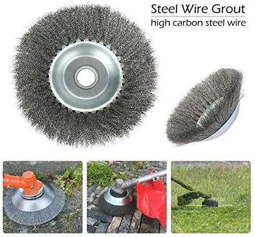 GSJDD Lame de coupe-herbe à bord arrondi filaire incassable, coupe-brosse en fil d'acier pour le remplacement de l'outil de remplacement rotatif de la pelouse(Bobine de filament de 8 pouces)