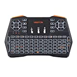 JINYANG Helpful VIBOTON i8 Plus 2.4GHz Wireless 3-Color Backlight Keyboard with Mouse Touchpad for Android TV Box Laptop PC