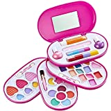 Little Fairy Princess – Washable Makeup Set for Girls - Childrens 4 Tier Cosmetic Set - With Compact Beauty Vanity Case