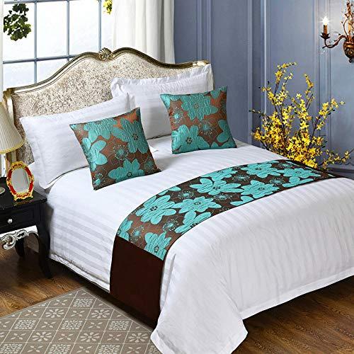 Chemin de Lit Drapeau de Lit Étoile de style européen, couvre-lit, lit une pièce matelassé et petit-déjeuner simple drapeau coréen moderne haut de gamme drapeau trois pièces, de lit,, Fleur de lotus