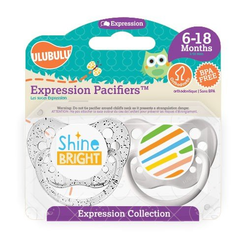 Ulubulu Pacifier, Shine Bright, 6-18 Months