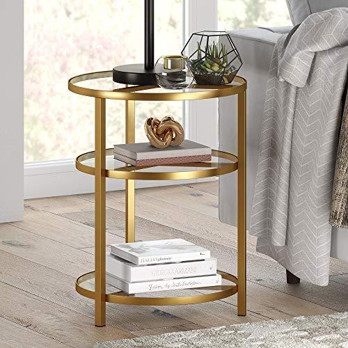 Henn&Hart End/Side/Nesting Tables, Gold/Brass