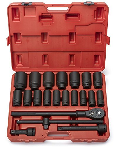 """Neiko 02409A 3/4"""" Drive Deep Impact Socket Set, 22 Piece 