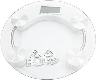 Blanketswarm Báscula de baño digital, pantalla LCD de 4 dígitos, báscula electrónica de grasa corporal para fitness, alta precisión, peso de hasta 180 kg, transparente