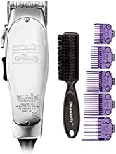 Andis Master Hair Adjustable Blade Clipper, with a Andis Master Dual Magnet 5-Comb Set with a BeauWis Blade Brush