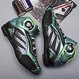 XTD Mise à Niveau pour Motocyclette Chaussure- (Reflective Décoloration) No Lock Chaussures avec Taquet Chaussures Hommes- Hommes Cyclisme Spinning Chaussures A-UK 9.0 = EU 44