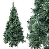 Arcoiris Árbol de Navidad Artificial Extra Relleno Abeto Artificial Soporte Metálico 60-240cm (120 CM, Agujas de Pino Natural)