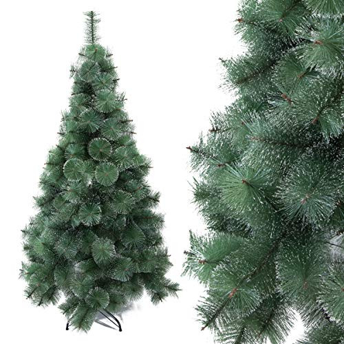 Arcoiris Árbol de Navidad Artificial Acebo, Natural Verde, Material PVC, Soporte deMetal (150CM, Agujas de Pino Natura)
