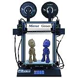 HICTOP IDEX D3 Hero Stampante 3D Dual indipendente per estrusore, stampa diretta a due colori duplicazione stampa diretta, touch screen LCD da 4.3 pollici Desktop doppio asse Z 300x300x350mm