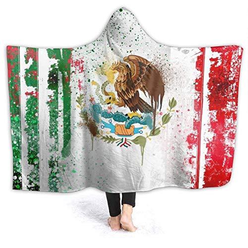 """Sudadera con Capucha, Manta, Bandera de México, con Capucha, Abrigo, Capa, Capa, Sudadera, para niños pequeños, Reversible, sofá Cama, Chal, Franela con Mangas, 50 """"x 40"""""""