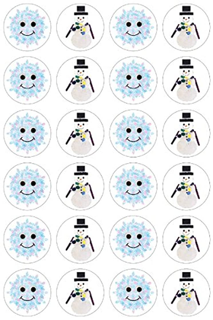Hygloss Products Winter Christmas Snowflakes and Snowmen Stickers - 480 Stickers - 1 Inch, 20 Sheets