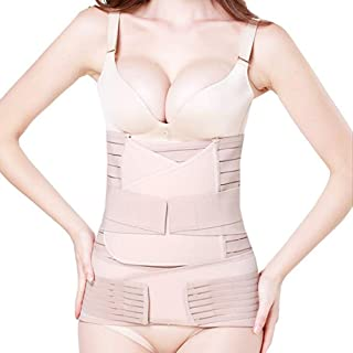 DHINGM Postpartum Belt 3 in 1 Girdle Post Belly Belt After Birth Belly Band Postpartum Support C-Section Recovery Belt Women Waist Pelvis (Size : XS)
