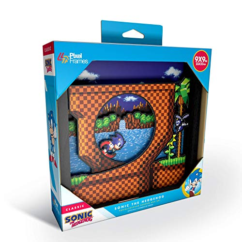 Pixel Frames Sonic The Hedgehog Loop Scene 9x9 Shadow Box Art (Big)