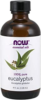 NOW Essential Oils, Eucalyptus Oil, Clarifying Aromatherapy Scent, Steam Distilled, 100% Pure, Vegan, 4-Ounce