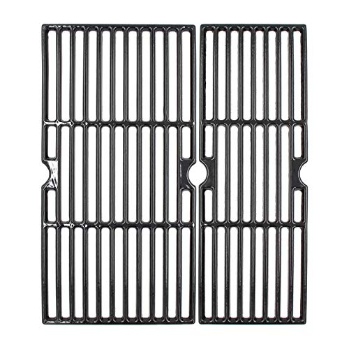 Hongso 18 3/16' Cast Iron Grill Grates for CharBroil Performance 2 Burners 463625217, 463673017, Porcelain Cooking Grids Replacement for Charbroil Grill Model, 2 Packs, PCZ062