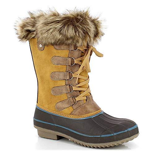 KIMBERFEEL Candice, Botas para Nieve para Mujer, marrón