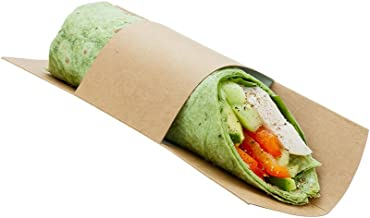 Paper Sandwich Wrap Display - Disposable Wrap Plate - Kraft - 9