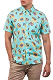 Hurley M Harvest Stretch SS Camisa, Hombre, Light Aqua, XL
