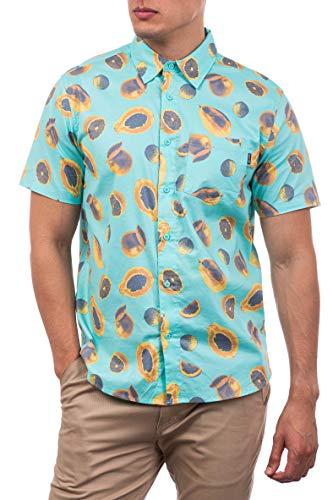 Hurley M Harvest Stretch SS Camisa, Hombre, Light Aqua, S