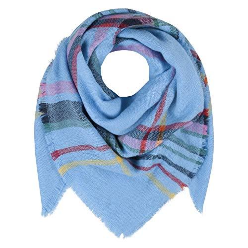 CODELLO DOEK driehoekig sjaal met CHECKS ruitpatroon BLANKET blauw 92106822