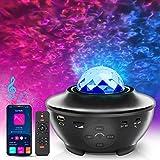 Proyector de Estrellas, Besvic Proyector Galaxia con Altavoz Bluetooth y Control Remoto & Temporizador, 10 Colores, 3...